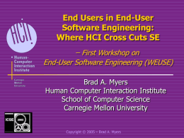 End Users in End-User Software Engineering: Where HCI