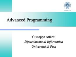 Programmazione Avanzata