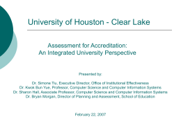 SCE Assessment