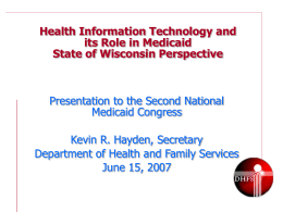 eHealth Governance Proposal September 18, 2006