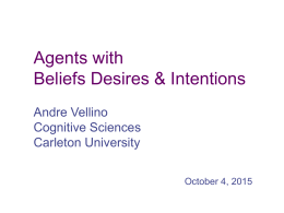 Agents with Beliefs Desires & Intentions