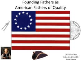Founding Fathers as - Northern Virginia Section 0511 ASQ