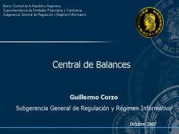 El XBRL y la Central de Balances en Argentina, Guillermo