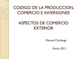 CODIGO DE LA PRODUCCION, COMERCIO E …