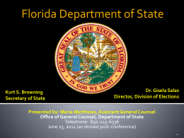 Voting Rights Act - Florida Department Of State