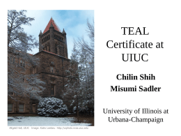 TEAL Certificate at UIUC