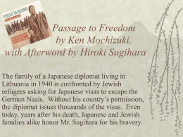 Passage to Freedom by Ken Mochizuki, with Afterword by