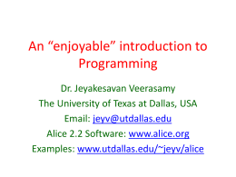 An introduction to Programming