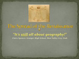 Spread of the Renaissance PPT