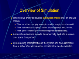 13.1 Overview of Simulation