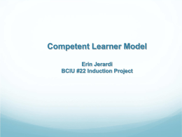 Competent Learner Model - Bucks County Intermediate …