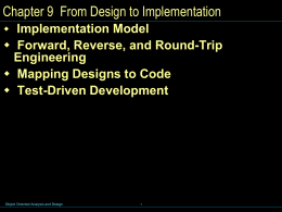 Chap 9 - From Design to Implementation