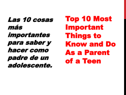 Top 10 Most Important Things to Know and Do As a …