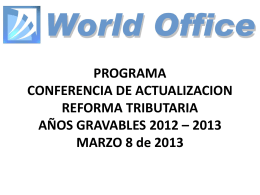 Diapositiva 1 - World Office
