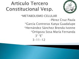 Articulo Tercero Constitucional Vesp.