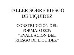 TALLER SOBRE RIESGO DE LIQUIDEZ