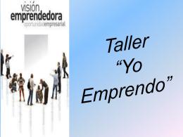 """Taller """"Yo Emprendo"""""""