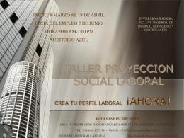 TALLER PROYECCION SOCIAL