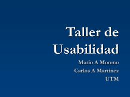 Taller de Usabilidad