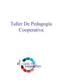 Taller de pedagogia cooperativa