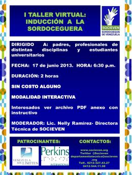 Diapositiva 1 - Socieven :: Personas Sordociegas de