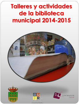 TALLERES DE LA BIBLIOTECA MUNICIPAL 2011/2012