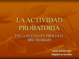 ACTIVIDAD PROBATORIA - DIPLOMADOS EN DERECHO