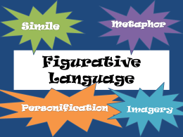 Figurative Language - Harrington's Web Page