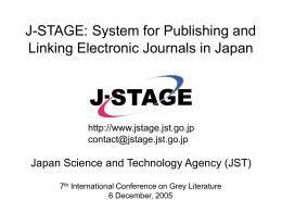 J-STAGE - GreyNet