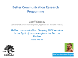 Better Communication Research Programme