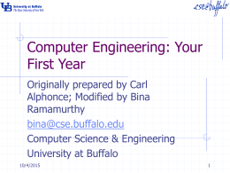 Computer Engineering: Your First Year