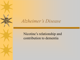 Alzheimer's Disease - The Evergreen State College