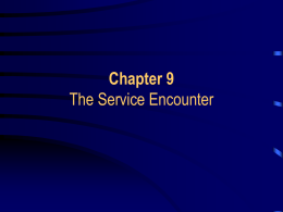 The Service Encounter - Florida Gulf Coast University