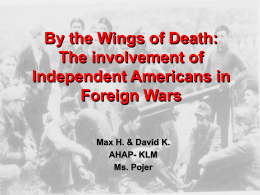 The Involvement of Independent Americans in Foreign …