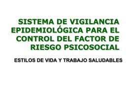 ESTILOS DE VIDA Y TRABAJO SALUDABLES