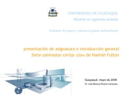 modulo evaluacion ambiental master Guayaquil 2008