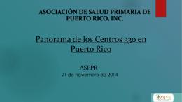 Panorama de los Centros 330 en Puerto Rico