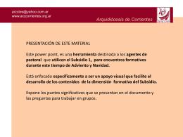 Diapositiva 1 - :: Arzobispado de Corrientes
