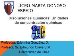 UNIDADES QUIMICAS - Liceo Marta Donoso Espejo