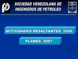 Actividades 2006 y Planes 2007