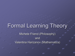 Formal Learning Theory - George Washington University