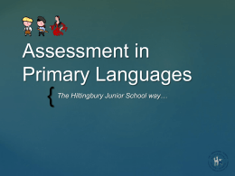 Assessment in Primary Languages