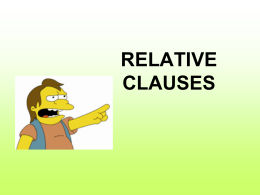 RELATIVE CLAUSE - Houston Community College