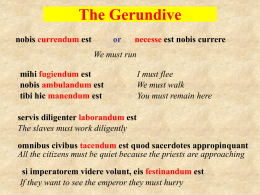 The Gerundive - The GCH Languages Blog