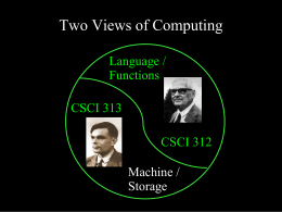 CS 312: Programming Language Design