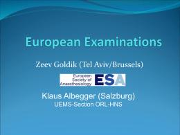 European Examinations