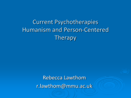 Current Psychotherapies Person
