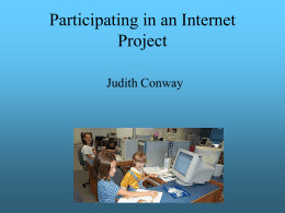 Participating in an Internet Project
