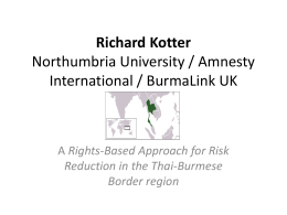 Richard Kotter Northumbria University / Amnesty