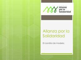 Organigrama Alianza por la Solidaridad